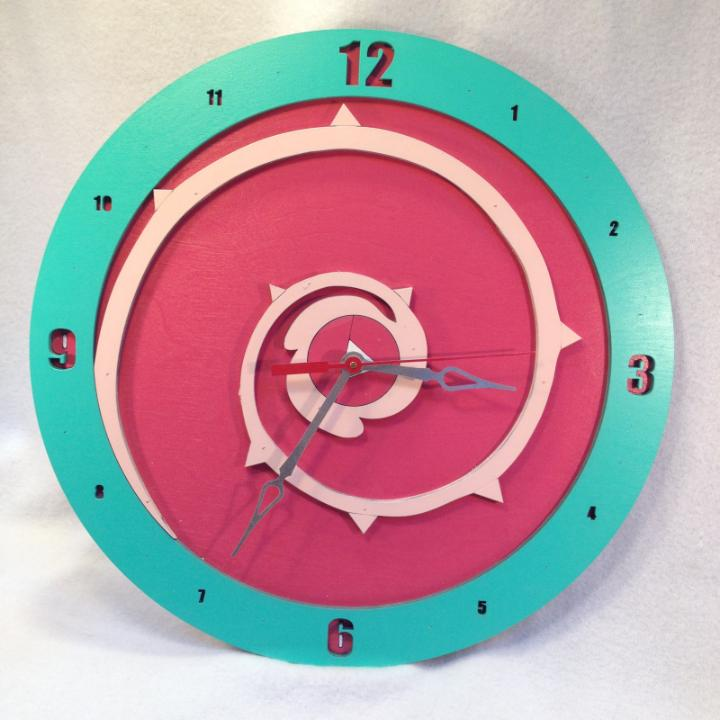 Steven Universe Rose Quartz Symbol: Rose Quartz Shield Clock