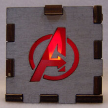 Avengers LED Gift Box REd