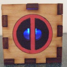 Dead Pool LED Gift Box Blue