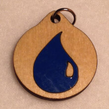 Magic the Gathering Blue Mana Symbol Wooden Necklace and Pendant