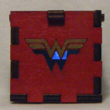 wonder Woman LED Gift Box white