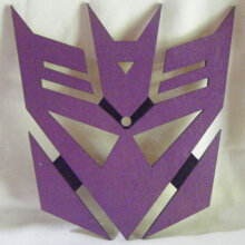 Decepticon Symbol Art Insert for Build-A-Clocks