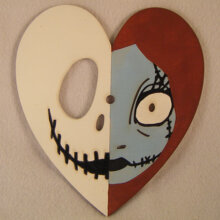 Jack and Sally Heart The Nightmare Before Christmas Art Insert for Build-A-Clocks