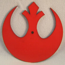 Rebel Alliance Symbol Art Insert for Build-A-Clocks