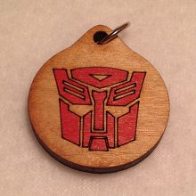 Transformers Autobots Wood Necklace