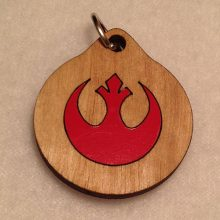 Rebel Alliance Wood Necklace
