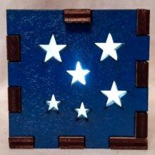 Stars Blue LED Gift Box white