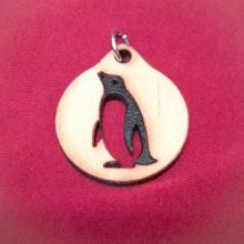 Penguin Wood Necklace