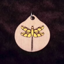 Dragonfly Wood Necklace and Pendant