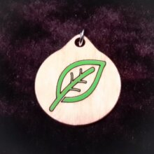 Leaf Nature Wood Necklace and Pendant