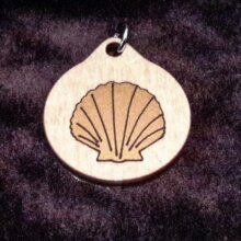 Seashell Nature Wooden Necklace and Pendant
