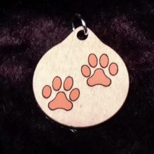 Paws Wood Necklace