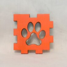 Paws Orange LED Gift Box