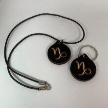 Capricorn Zodiac Sign Pendant or Keyring