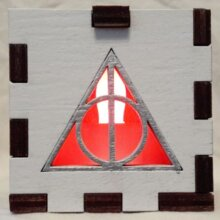 Deathly Hallows LED Gift Box red