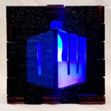 Dr. Who Black LED Gift Box blue