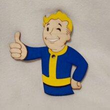 Fallout Vault Boy Art Insert for Build-A-Clocks