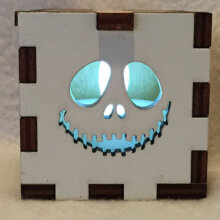Jack Skeleton LED Gift Box white