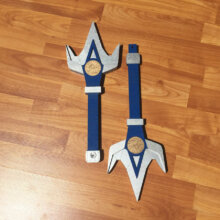 Blue Double Bladed Lance from Power Rangers