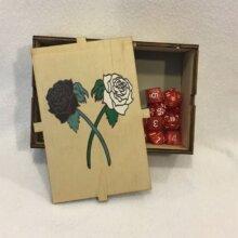 Dice Box Roses Open