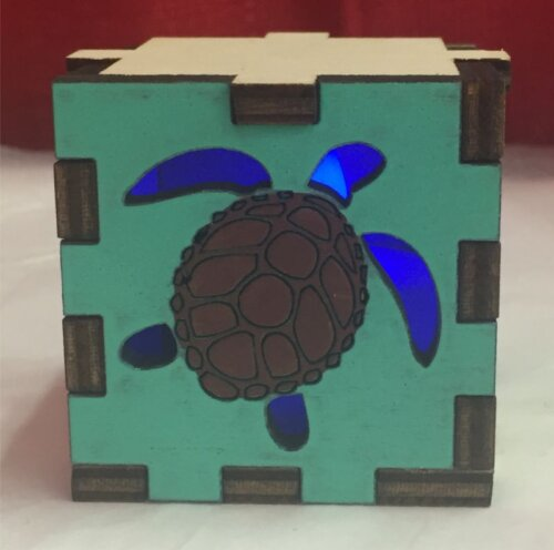 Turtle Tea Light Front
