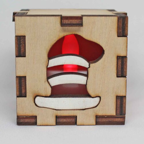 Dr. Seuss The Cat in the Hat Lit Red Tea Light