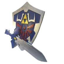 Hylian Shield and Master Sword from Legend of Zelda