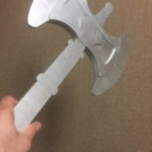 "23"" He-Man Battle Axe Cosplay Replica Costume Prop"