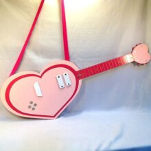 Cyan's Strawberry Heart Guitar from the anime Show By Rock