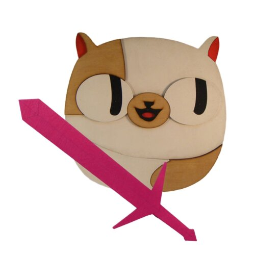"""Cake The Cat Set: 23"""" Fionna's Pink Crystal Sword and 17"""" Cake the Cat Shield Set Cosplay Replica Costume Prop"""