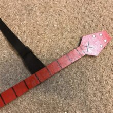 Neck of Marceline Axe Guitar from Adventure Time