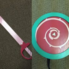 Rose Quartz Shield and Sword from Steven Universe KIDS SIZE