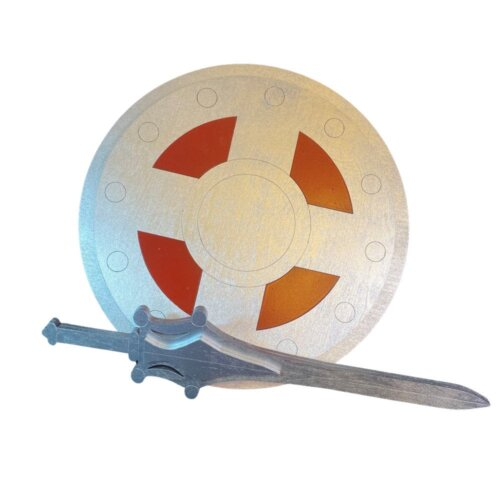 """Kids Size Set:  He-Man or SHe-Ra 17"""" Sword and 14"""" Shield Cosplay Replica Costume Prop"""