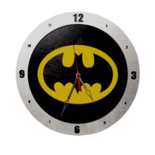 Batman Clock on Black Background