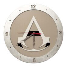 Assassin Creed Clock on Beige Background