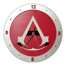 Assassin Creed Clock on Red Background