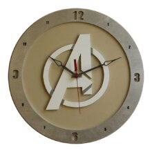 Avengers Clock on Beige background