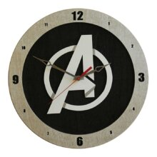 Avengers Clock on Black background
