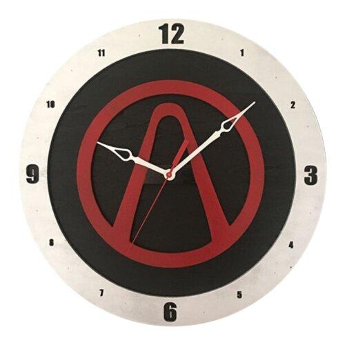 Borderland Clock on Black Background