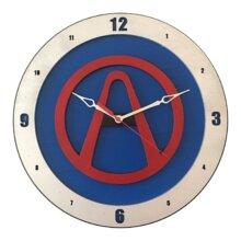 Borderland Clock on Blue Background