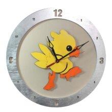 Chocobo Clock on Beige Background