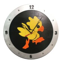 Chocobo Clock on Black Background