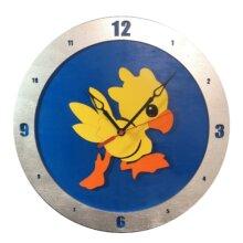 Chocobo Clock on Blue Background