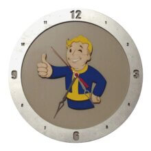 Fallout Clock with Beige Background
