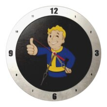 Fallout Clock with Black Background