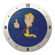 Fallout Clock with Blue Background
