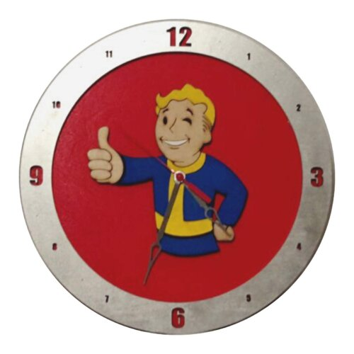 Fallout Clock with Red Background