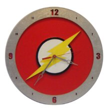 Flash Clock on Red background