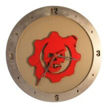 Gears of War Clock on Beige Background