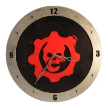 Gears of War Clock on Black Background